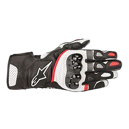 Gloves Sp2 - Alpinestars Men's SP-2 v2 Black/White/Red Gloves 3558218-123-XL