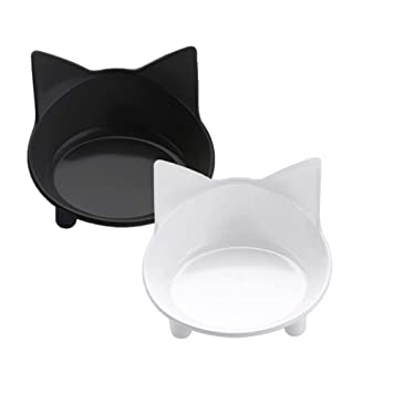 LCPG Estación de alimentación para Gatos Linda Comida Ligera para Gatos Cuenco Antideslizante Comedero para Gatos Comedor de Comidas para Gatos (Color ...