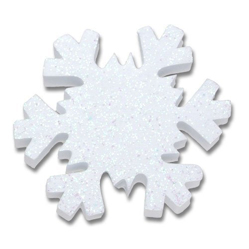 Tenna Tops - White Snowflake Sparkles Antenna Topper / Antenna Ball / Mirror Dangler Tenna Tops® TT038