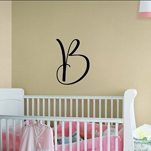 Swirl Monogram Initial Letter Vinyl Words Decal Sticker Graphic Custom Sizes Available Free (Swirl Monogram)