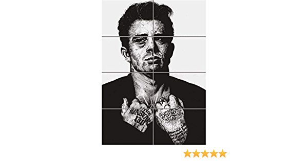 Wm James Dean Unique Tattoo Icon Inked Giant Wall Art Poster Print