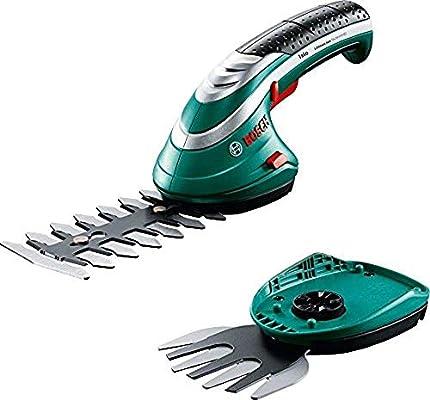 Bosch -Set de tijeras cortacésped a batería Isio (3.6 V, longitud de cuchilla 12 cm, distancia entre cuchillas 8 mm, en caja)