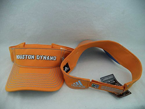 Houston Dynamo Adidas MLS Orange Authentic Team Visor Hat Cap OSFA