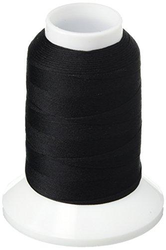 Yli Serger Thread (YLI 21305-BLK Woolly Extra Nylon Thread, 300m, Black)