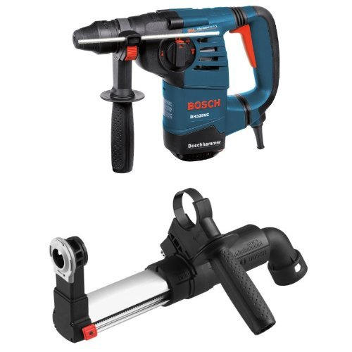 Bosch RH328VC 1-1/8-Inch SDS Rotary Hammer with HDC100 SDS-Plus Dust Collection Attachment