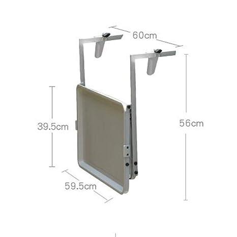 Amazon.com: CWJ - Mesa pequeña para balcón, plegable, ideal ...