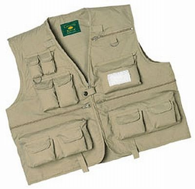 [Crystal River C/R Fly Fishing Vest ,Khaki, Large] (Fisherman Costume)