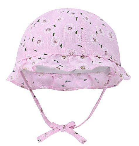 Floppy Hat Printed (Hemantal Baby Sun Hat Kids Girls Floppy Printed Beach Sun Hat Bucket Hat Pink)
