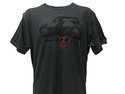 New Camaro Z28 - GM Men's General Motors Chevrolet Chevy Motors Camaro z28 Logo T Shirt 2X-Large Heather Charcoal
