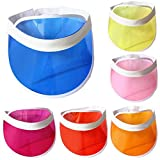 YUGUO Sunhat Summer Candy Color Sun Hat Transparent Plastic Ultraviolet Proof Visor Cap Unisex Women Men Sunshade Sunhat