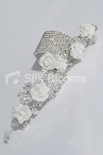 White-Foam-Rose-Artificial-Wrist-Corsage-with-Crystal-Detailing-and-Bracelet