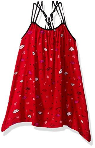 Calvin Klein Girls Asymmetrical Flounce Dress