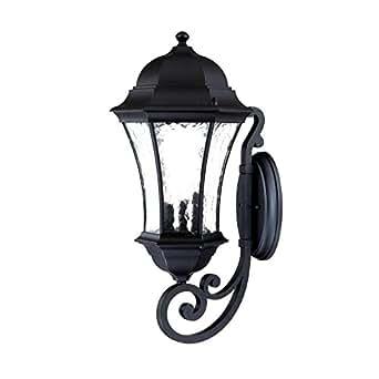 Three Light Matte Black Wall Lantern 3621BK