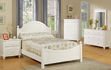 twin size bedroom furniture. 4pcs Twin Size Bedroom Set  Cape Cod Style White Finish Amazon com