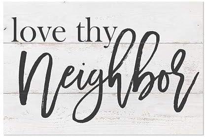 30x20 CGSignLab Inner CircleLove Thy Neighbor Clear Window Cling