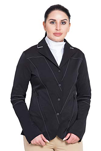 Equine Couture Women's Italia Show Coat, Black, Medium