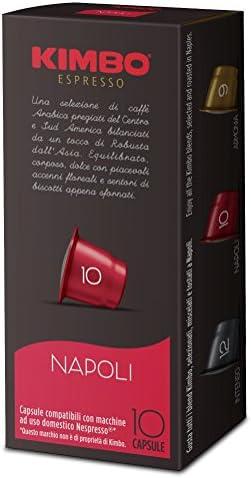 Kimbo Capsule Napoli Compatibili Nespresso – 12 Astucci da 10 Capsule (Totale 120 capsule)