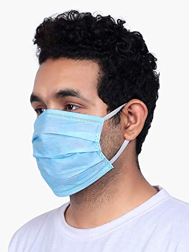 Fitness Mantra 3 Ply Surgical Mask With Melt Blown Fabric Layer Without Nose Pin [150 Pcs.]