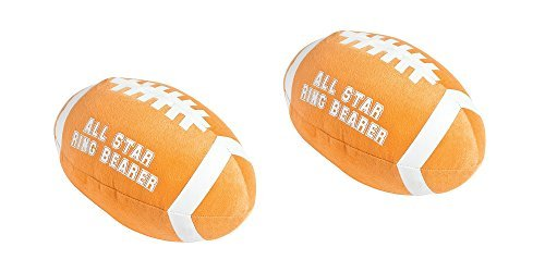 (Fun Express Set of 2 Plush All Star Ring Bearer Football)
