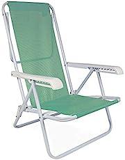 Cadeira Reclinável Mor 8 Posições Anis Aço