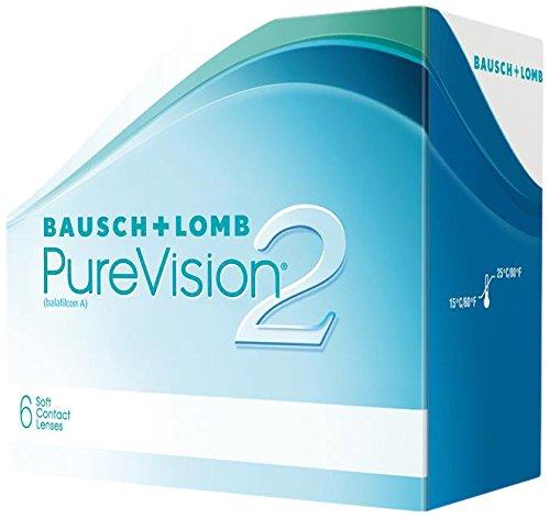PureVision2 HD Monatslinsen weich, 6 Stck / BC 8.60 mm / DIA 14.00 mm / -01.00 Dioptrien