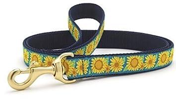 Amazon.com: Bright sunflowers Correa del perro, Azul, verde ...