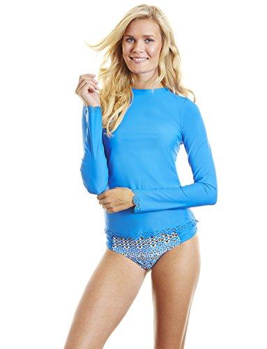 Cabana Life Mujer Scallop–Bañador para mujer Azul (azul)