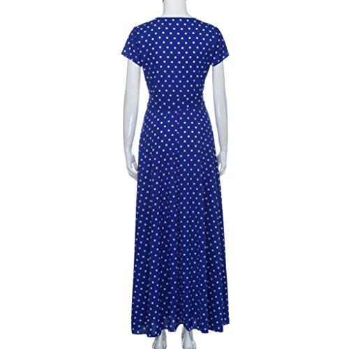 Summer Princess Long blue Fashion Party TOTOD Maxi Ladies Print Boho Dress Dress Womens Z Sf4wxznU
