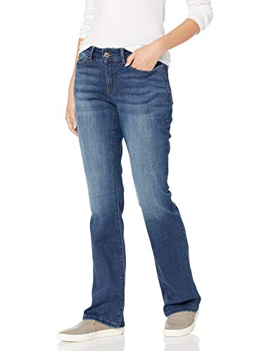 LEE Women's Modern Series Curvy Fit Bootcut Jean with Hidden Pocket, Cascade, 14 Short (Best Skinny Jeans For Curvy Thighs)