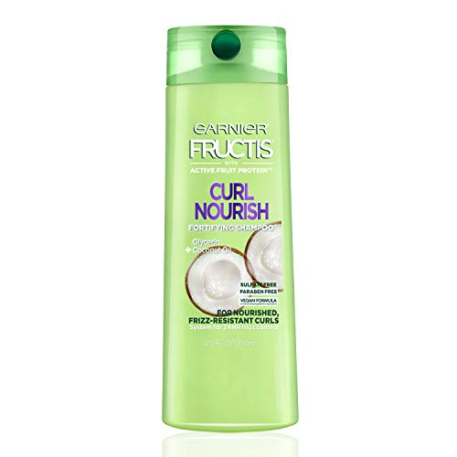 - Garnier Fructis Curl Nourish Sulfate-Free and Silicone-Free Shampoo Infused with Coconut Oil and Glycerin, System for 24 Hour Frizz-Resistant Curls, 12.5 fl. oz., Packaging May Vary