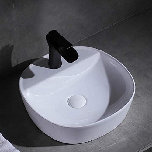 BoPin バスルームの洗面台、(タップ無し)セラミック家庭用洗面化粧台技術流域単一流域、3つのサイズの数 ベッセルシンクシンク (Size : 40.5X40.5X12cm)