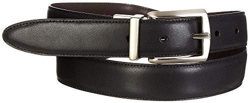 Boca Classics Mens Solid Reversible Dress Belt 32W Black/brown ()