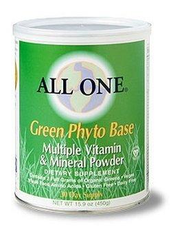 All One Powder Multiple Vitamins & Minerals, Green Phyto Base, 2.2-Pound (All One Green Phyto Base)