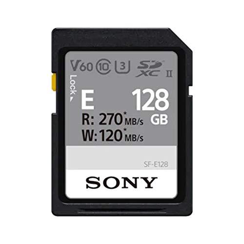 Sony SF-E128 SD-Speicherkarte (128 GB, UHS-II, Klasse 10, E Serie)