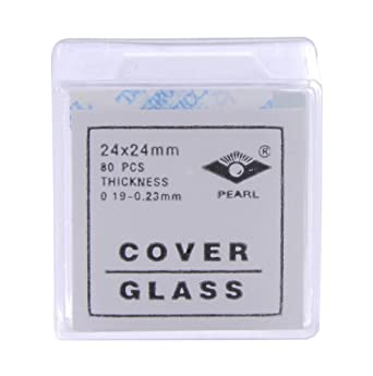 American Educational Glass Microscope Cover Slip 24mm Length 24mm Width #2 Thickness (Bundle of 400)