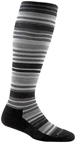 Darn Tough Striped Knee High Light Cushion Socks - Women's Charcoal Small
