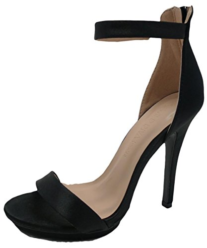 Wild Amy Strap Platform Heel Open Sandal Ankle High Diva Stiletto Black Pump Womens Toe 01 F5BFPqr