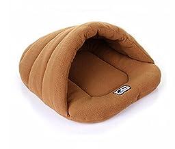 Warm Sleeping Bags Pet Kennel Pet Nest Dog Litters Medium Small Animal House Sleeping Bag Winter Nest (Xs-l) Camel Color (Camel, M)