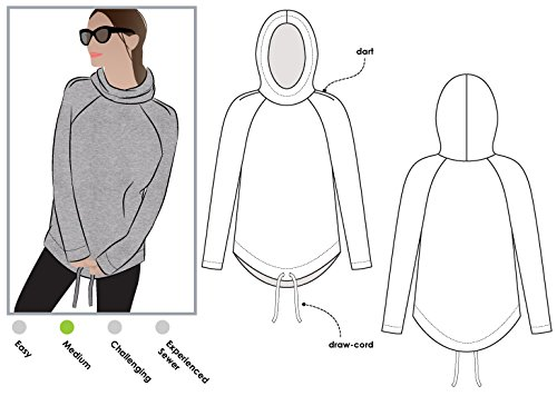 Style Arc Sewing Pattern - Josie Hoodie (Sizes 04-16) - Click for Other Sizes Available