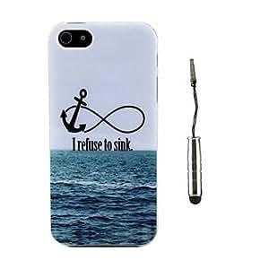 Mini - Sea Landscape Design TPU Soft Case and Stylus for iPhone 5/5S