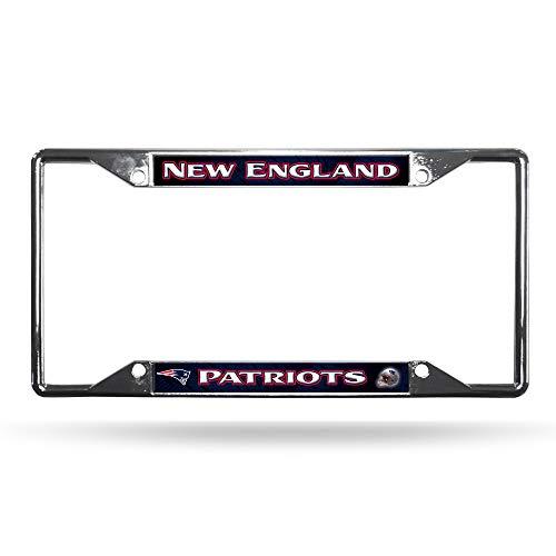 (New England Patriots Chrome License Plate Frame)
