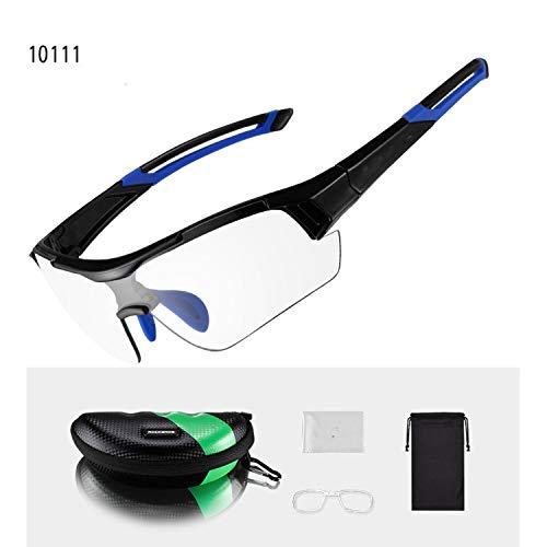 MTB Bike Photochromic Glasses Cycling Skiing Driving Outdoor Sports Sunglasses Goggles Bike Eyewear,Blue