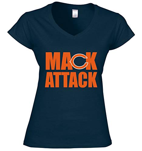 Navy Chicago Mack Attack Ladies V-Neck Adult