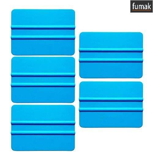 Fumak: 5個 プロフェッショナル 3M ブルー ソフト スキージー 車 窓 保護ビニールフィルム ティントラップ カーステッカー スクレーパー フィルムツール 5A16 B07L86267J