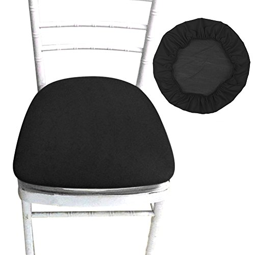 SHZONS Chair Seat Covers, Removable Elastic Dining Chair Cover Protectors Stool Slipcovers for Bar Stools Dining Room Patio Office Chair (Stool Round Bar Seat)