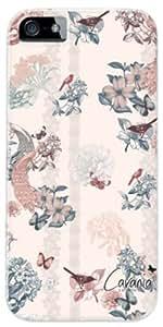 Diabloskinz D0081-0075-0009 - Carcasa para iPhone 5 y 5S, diseño de flores, mariposas y pájaros