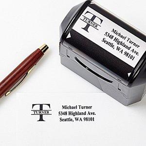 custom name personalized rubber address stamp amazon co uk office