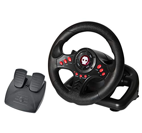 (Universal Steering Wheel & Pedals for PC, Playstation 4, PS3 and Xbox One)