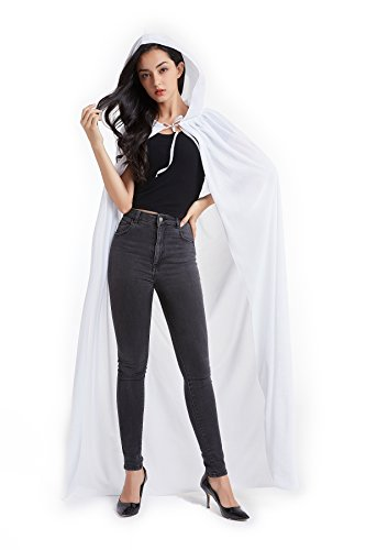 Crizcape Unisex Halloween Costume Cape Hooded Velvet Cloak