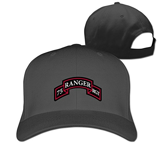 Cool 75th Ranger Regiment Adjustable Baseball Cap Black